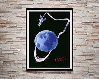 Reprint of an Old Russian Space Shuttle Poster
