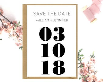 Modern Save The Date cards x 20
