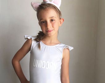 UNICORN flutter sleeve one piece 3 mos - 12 swimsuit