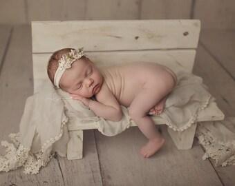 Newborn Photography Prop Bench   Newborn Photo Prop, Children Bench, Sitter Bench, Wood Photo Prop