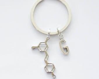 Wine Keychain, Resveratrol Keychain, Resveratrol Molecule Keychain, Wine Lover Gift, Wine Keyring, Wine Gift, Hostess gifts, Wine Key rings