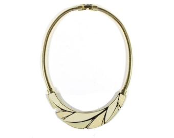 Trifari TM Vintage Gold Tone Bib Necklace