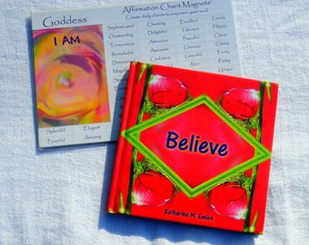 Empowerment Package, Believe Book and Affirmation, Gift, Intention Making Kit, Goddess Affirmation Gift, Girl Friend Gift, Believe
