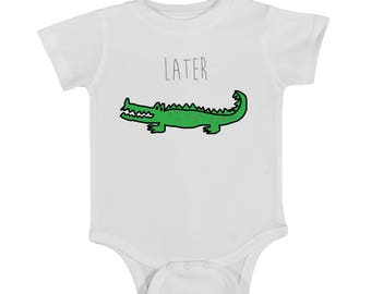 Later Gator Onesie, cute onesie, baby onesie, funny onesie, newborn onesie, alligator