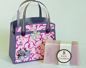 Handmade gift bag with soap