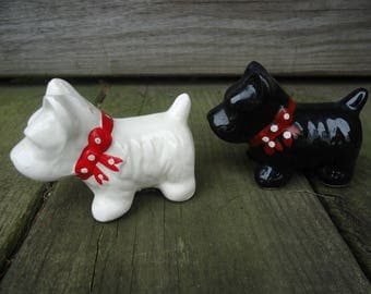 Scottie Dog Salt and Pepper Shakers