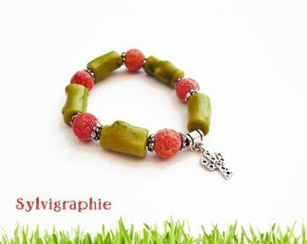 Bracelet coral beads