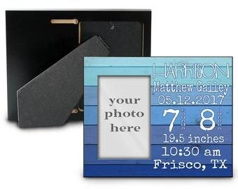 Baby Birth Stat Newborn Photo Frame Personalized Custom