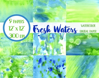 Blue and Green Watercolor Paper, Blue and Green, Watercolor Washes, Watercolor Textures, Watercolor Backgrounds, Watercolor Wallpaper