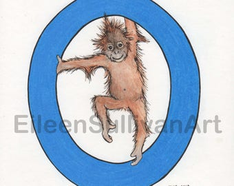 O is for Orangutan