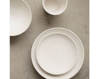 White Pottery Dinnerware | japanese handmade throwing ceramic dining set