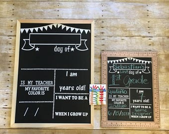 NEW First/Last day of school ruler chalkboard sign/ chalkboard sign/ back to school/ first day of school sign/ first day of school chalkbo