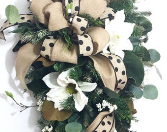 Magnolia Wreath, Magnolia Wreaths for Front Door, Front Door Wreath, Everyday wreath, Spring door Wreath, All Season Wreath