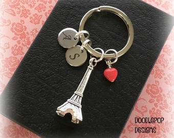 Personalised Valentine's gift - Eiffel Tower keyring - Paris gift - Valentine gift for her - Eiffel Tower keychain - Valentine's Day