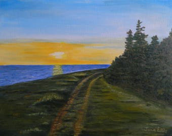 Lane in the Sunset