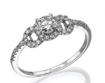 Diamond Engagement Ring Vintage Ring Antique Ring Art Deco ring engagement band Wedding ring Infinity Ring gispandiamonds