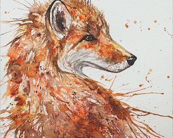 Aceo Print, Wild Hare. From an Original Painting by EMMA STEEL. Personally signed. ESHA155AC