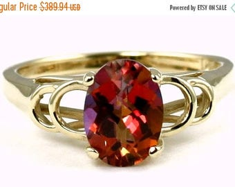 On Sale, 30% Off, Twilight Fire Topaz, 14KY Gold Ring, R300