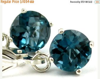 On Sale, 30% Off, London Blue Topaz, 925 Sterling Silver Leverback Earrings, SE017