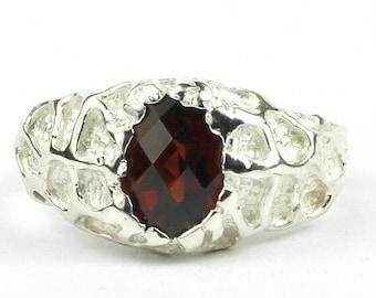 On Sale, 30% Off, Mozambique Garnet, 925 Sterling Silver Men's Ring, SR168