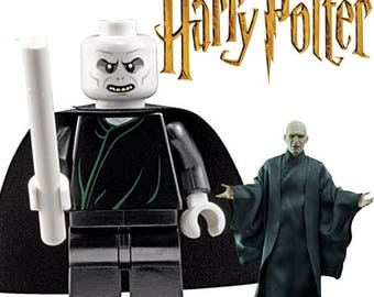 HARRY POTTER Lord Voldemort minifigure white head Custom Lego Compatible
