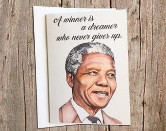 Nelson Mandela card