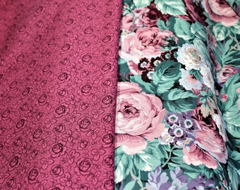 Floral Coordinates Fabric VIP Prints by Joan Messmore from Cranston Print Works - BTY