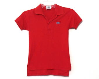 Vintage 80s Izod Lacoste polo shirt kids size 8 10