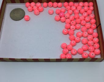 Pink and white acrylic beads