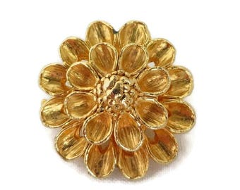 Scarf Clip - Vintage Gold Tone Flower Clip, Patent Pending, Dress Clip, Women's Accessory, Gift for Her, FREE SHIPPING