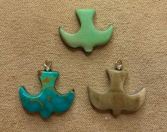 55% OFF Assorted Doves Cabochons/Varisite/Turquoise/Picasso Marble/ backed/ seconds