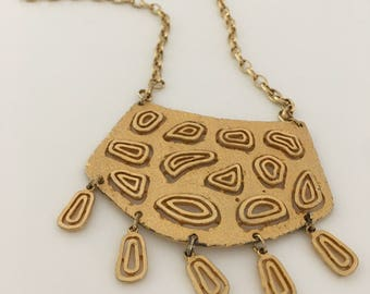 Modernist Abstract Statement Necklace