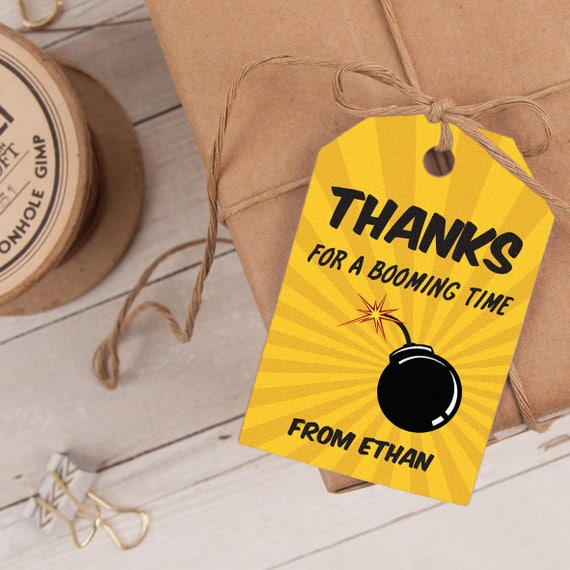 Superhero Favor Tag INSTANT DOWNLOAD