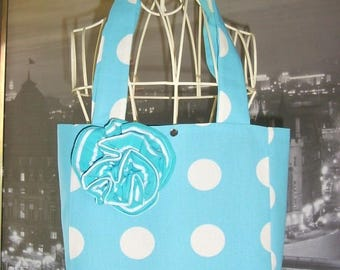 Bag pattern fancy romance weight and turquoise stripes