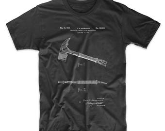 Fireman's Axe 1940 Patent T Shirt, Firehouse, Firefighter Gift, Hatchet, Tool Shirt, Man Cave, PP0812 Z1016