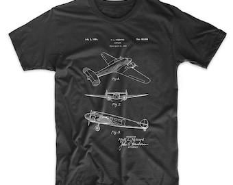 Electra Airplane Patent T Shirt, Airplane Shirt, Aviation T Shirt, Plane Nursery, Air Force Gift, PP0945