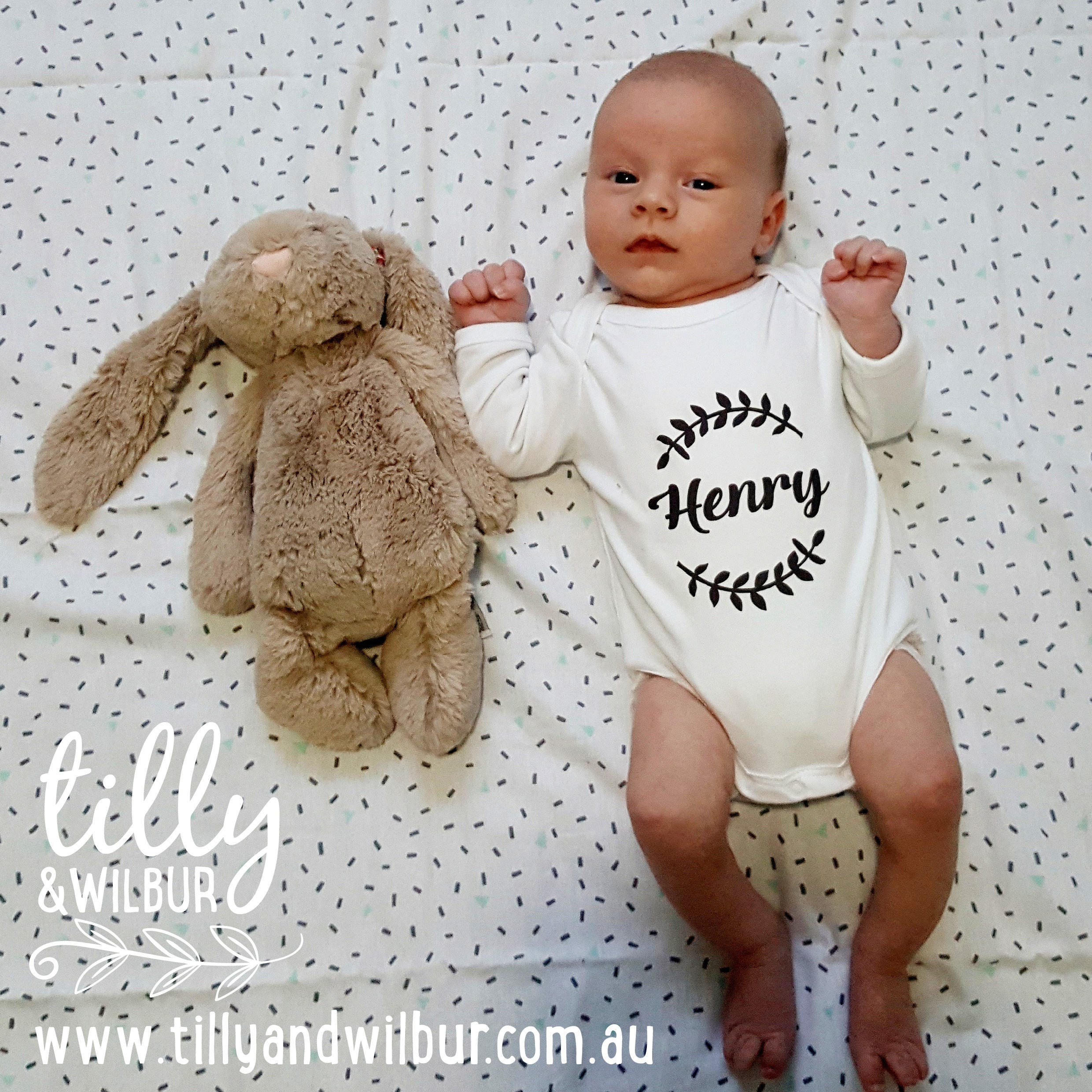 Tillywilbur personalised clothing gifts personalised baby bodysuit for new arrivals baby gift newborn gift personalised baby gift negle Choice Image