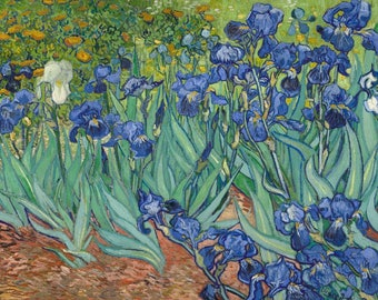 Irises (Artist: Vincent Van Gogh) c. 1889 - Masterpiece Classic (Art Print - Multiple Sizes Available)