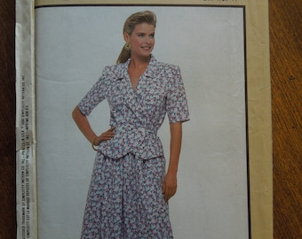 Simplicity 9650, sizes 8-14, misses, petite, two piece dress, UNCUT sewing pattern, craft supplies