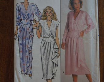 Butterick 3678, size 14, wrap dress, womens, misses, UNCUT sewing pattern, craft supplies