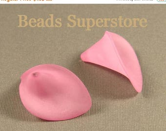 SALE 19 mm x 21 mm Hot Pink Calla Lily Lucite Flower Bead - 10 pcs