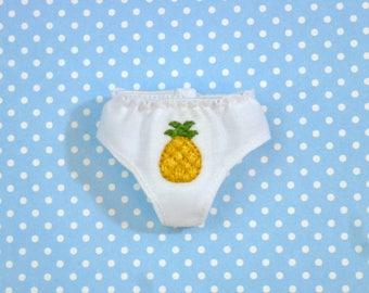 Pretty Pineapple Panties for Neo Blythe Dolls
