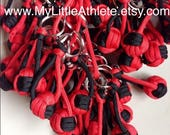 Custom Order - 3 Red & Black Keychains