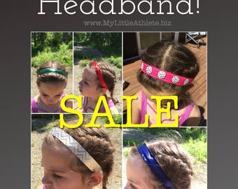 Youth No Slip Sports Headband, Volleyball Headband,  BOGO -> Purchase one and comment style/color of the second one at checkout.
