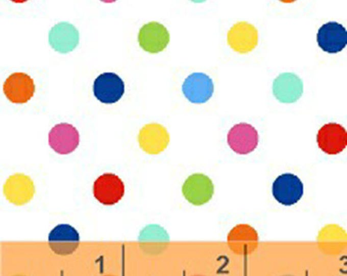 Windham Basic Brights - Aspirin Dot in Multi - Bright Basics Cotton Quilt Fabric Dots - Windham Fabrics - 31643-17 (W4143)