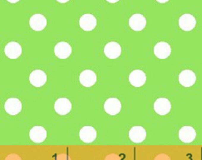 Windham Basic Brights - Aspirin Dot in Green / White- Bright Basics Cotton Quilt Fabric Dots - Windham Fabrics - 29398-3 (W4146)