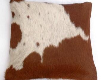Natural Cowhide Luxurious Hair On Cushion/ Pillow Cover (15''x 15'') A69