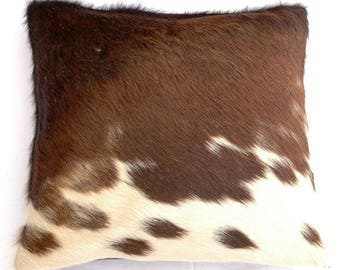 Natural Cowhide Luxurious Hair On Cushion/ Pillow Cover (15''x 15'') A78