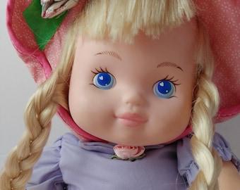 1995 Rosie Doll Blonde Pastel Toy Sings Ring Around The Rosie - Dolls Of The 1990s