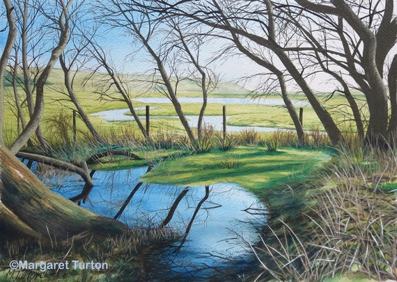 Hidden Cuckmere, original watercolour painting